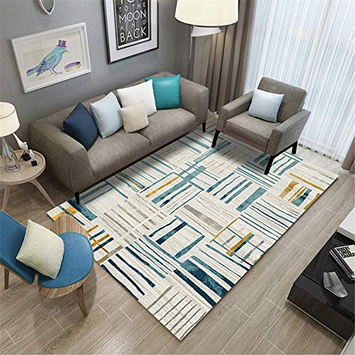 MMHJS Nordic Simple Geometric Non-Slip Carpet Soft Moisture-Proof And Wear-Resistant Floor Mats Suitable For Bedroom Living Room Hotel Party Restaurant Banquet