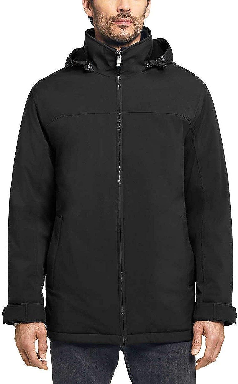 Weatherproof Mens Ultra Tech Double Zip Water Repellent Coat Black