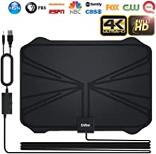 TV Antenna, 2018 Newest Version 4K Digital HDTV Antenna Kit Indoor with Amplifier Signal Booster, Receive HD Signals1080P 4K Free TV Channels