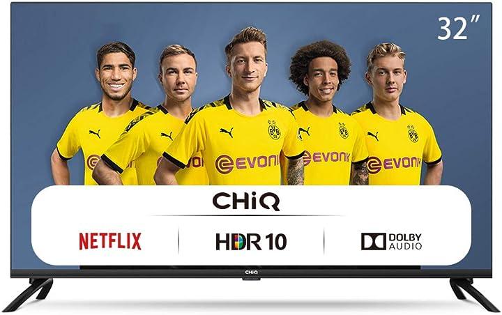 Tv 32 pollici wi-fi netflix youtube prime video facebook hdr dvb-t2/c/s2 frameless design chiq L32H7N