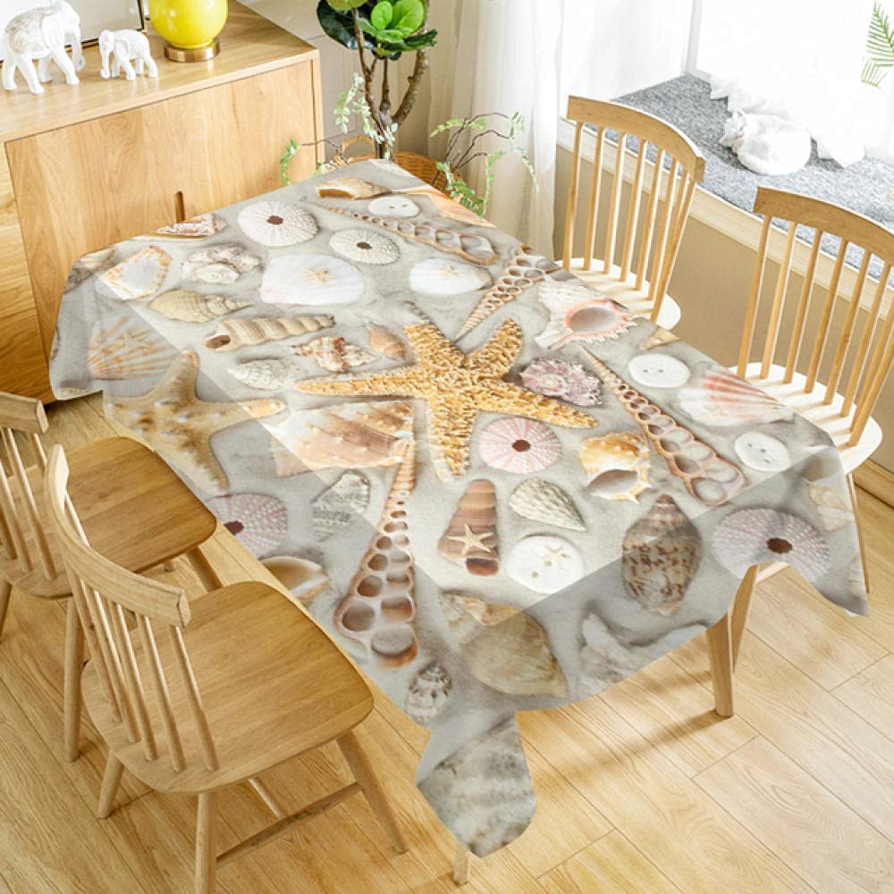 Seashells Starfish Tablecloth Dustproof Recta Cloth Dinner Branded goods Fashionable Table