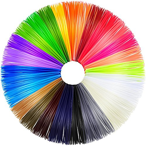 Anpro 28 Colores 3D Filamento ABS para Pluma, 1.75mm 20 Pie Longitudes de 560 Pies Lineales …
