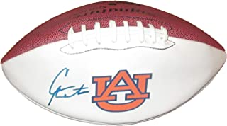 Cam Newton Autographed Auburn Tigers Logo Football W/PROOF, Picture Of Cam Signing For Us, Carolina Panthers, Auburn Tigers, National Championship, MVP, Super Bowl