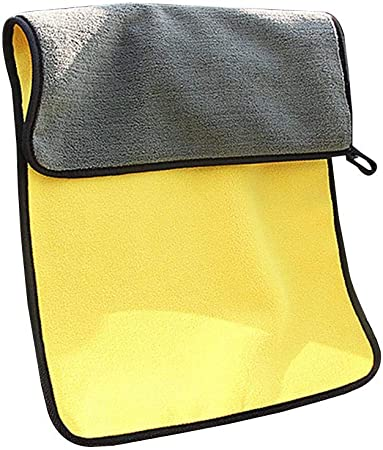 Mcbbigxw Microfasertuch Autopflege Set Mikrofasertücher Putztuch Microfaser Tuch Auto Motorrad Für Polieren Waschen Trocken Staubwischen Und Pflegen 2 Größen M L 30 60cm L Auto