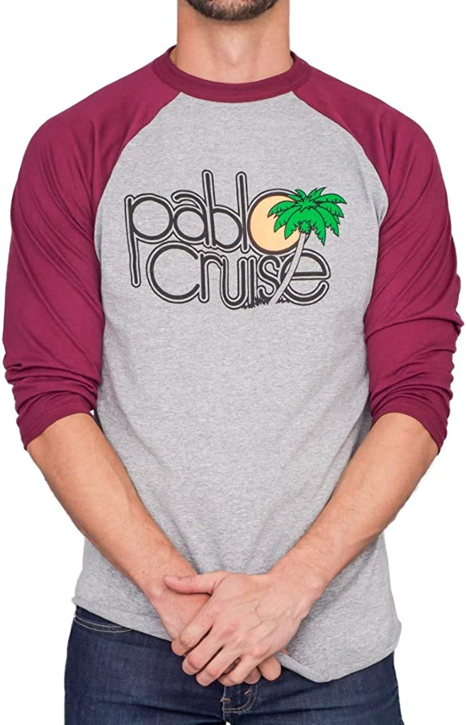 Step Brothers Pablo Cruise Adult Gray Raglan and T-Shirt New life Year-end gift Maroon