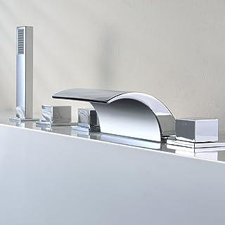 Kinse Columna Ducha Conjuntos de Ducha Cascada Grifería Grifo Ducha de Mano para Baño Cuarto de Baño
