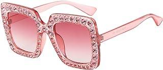 157a8030212 TANGSen Womens Fashion Artificial Diamond Cat Ear Quadrate Metal Frame  Brand Classic Glasses Sunglasses
