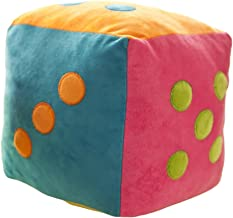 "ChezMax Cute Dice Plush Toys Stuffed Cubic Throw Pillow Decorative Cushion for Home Rainbow Colors 9"""
