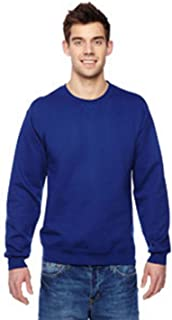 Fruit of the Loom mens 7.2 oz. Sofspun Crewneck Sweatshirt(SF72R)-ADMIRAL BLUE-L
