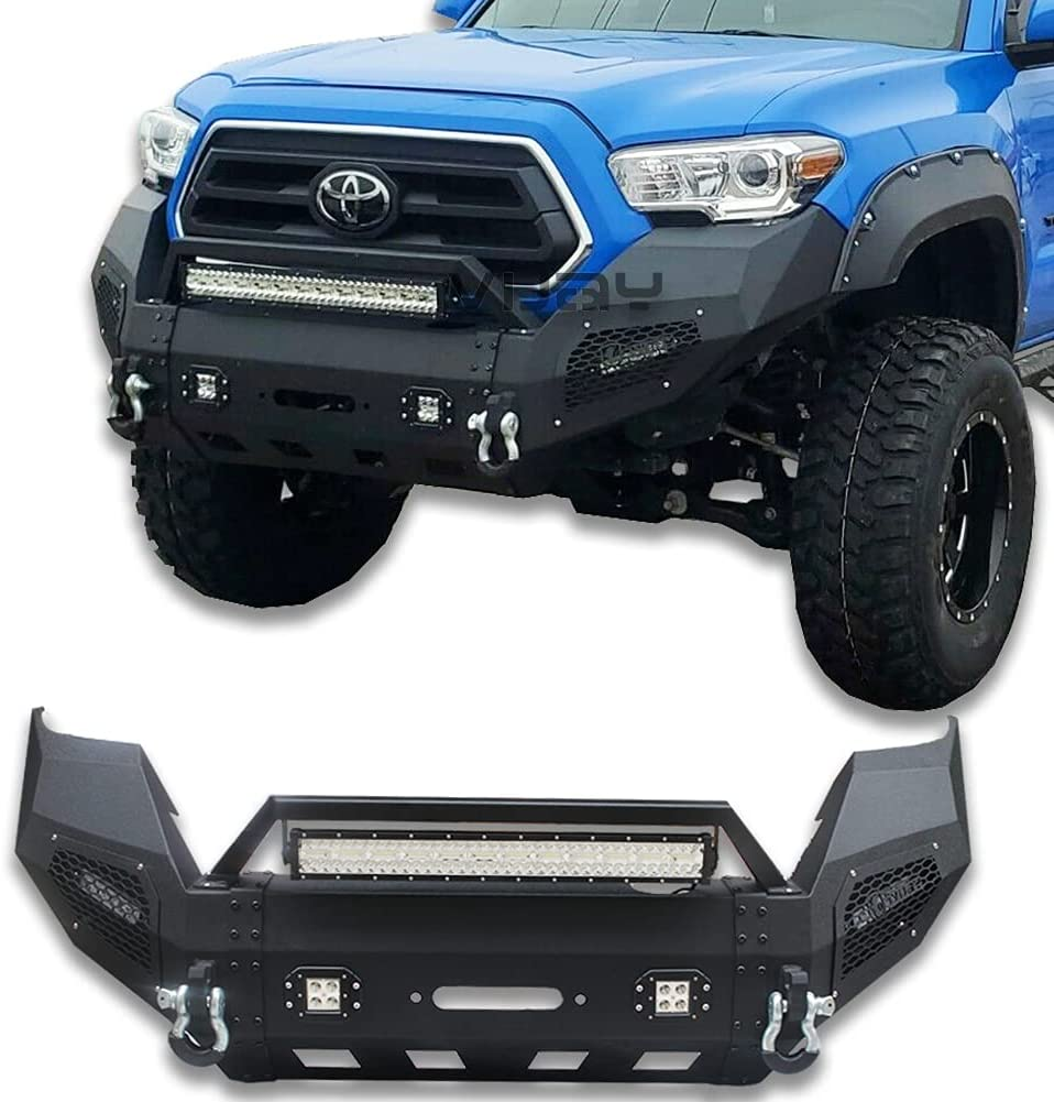 Ronghui Product Tacoma Bumper Textured Trust Black LED Front with 4x20W