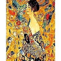 数字による図の絵画キャンバスの写真ファン数字によるDIYの着色手描きのキット現代の風景家の装飾40x50cm /フレームなし