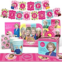 Golden Girls Party Supplies (Deluxe) Golden Birthday Party Pack, 66 Piece Set, by Prime Party