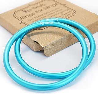 Roo Threads Aluminum Rings for Baby Slings, Aqua