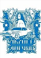 igsticker ポスター ウォールステッカー シール式ステッカー 飾り 1030×1456㎜ B0 写真 フォト 壁 インテリア おしゃれ 剥がせる wall sticker poster 002704 ユニーク 人物 車 イラスト