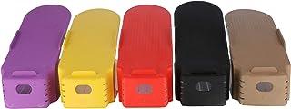 Set of 5 Pieces Multi color Shoe Slots Space Saver, Easy Shoe Organizer Double Shoe Rack Storage For Closet, Shoes Holder ...