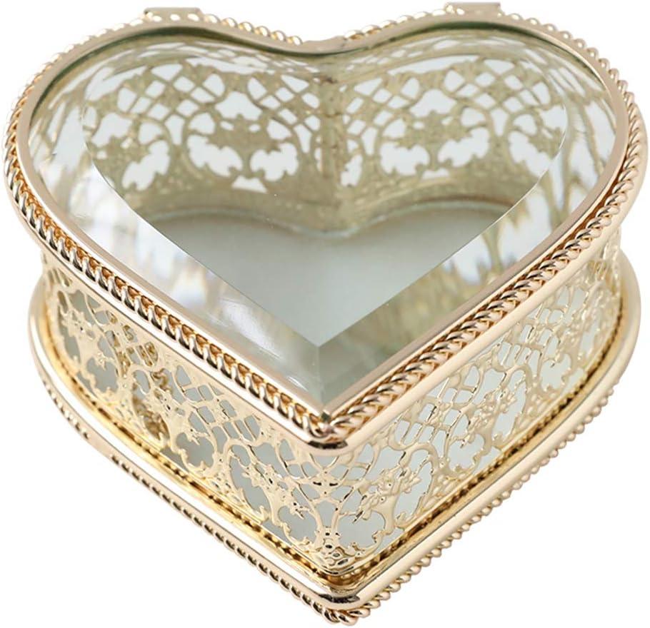 Handmade Art Glass Heart Department store Shape 4 years warranty Jewelry Gi Organizer Box Romantic
