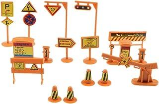 Perfeclan 14 x Sokak Yapısı Trafik İşareti Seti Yön Göstergesi Mühendislik
