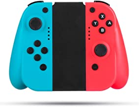 Wireless Controller for Switch, BestOff Neon Red Neon Blue Controllers Compatible for Nintendo Switch Console as a Substitution for Joy Con Controller