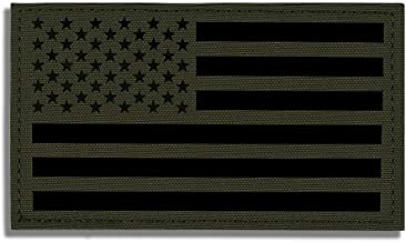 KRYDEX 5x3 inch Large Infrared IR Reflective US USA American Flag Patch Tactical Vest Patch with Hook Fastener Backing (Ra...