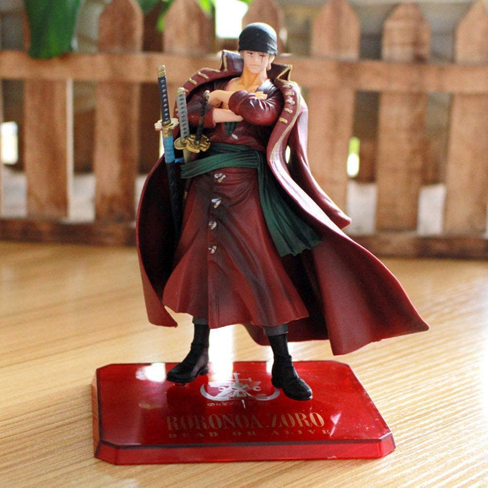 One Piece Red Clothes Roronoa Zoro Fi Dedication On Pedestal Tampa Mall Anime Standing