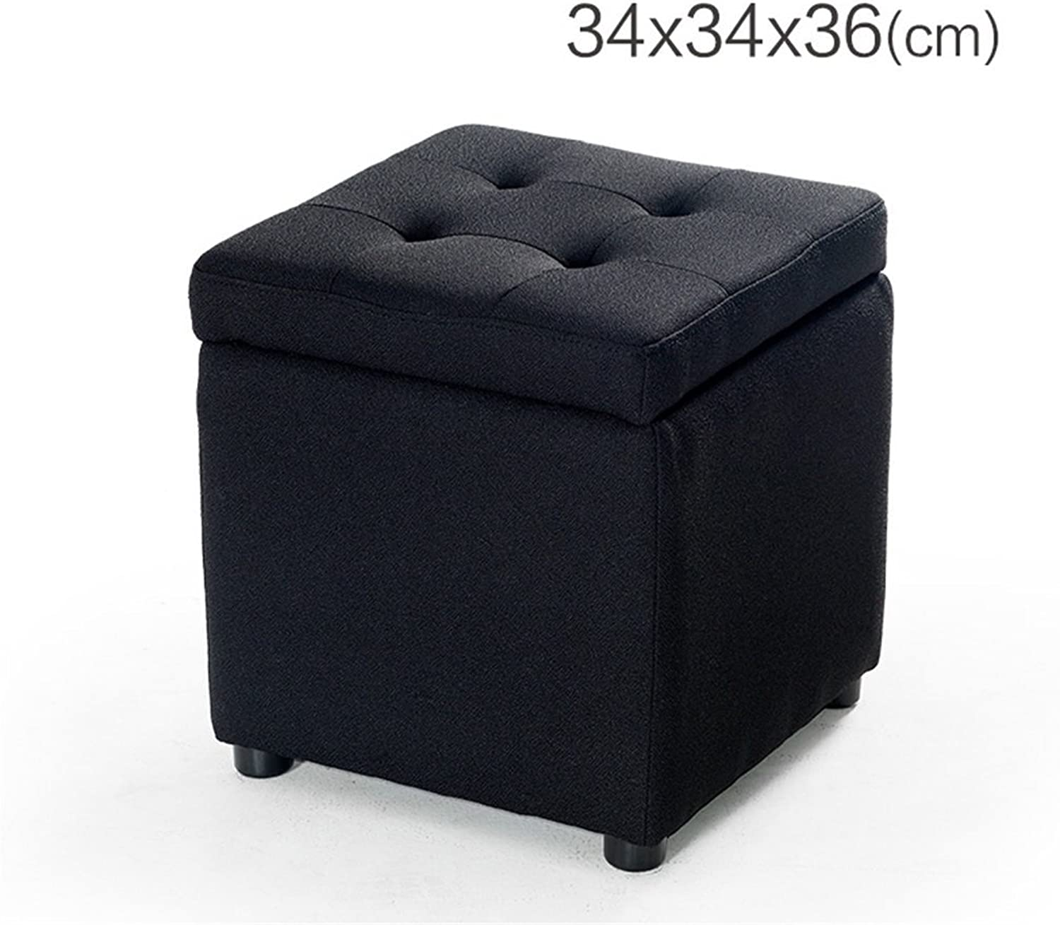 AIDELAI Bar Stool Chair- Leather Change shoes Stool European Style Sofa Stool Small Stool Bed Stool Living Room Round Stool Footstool Wearing a shoes Stool Bench Saddle Seat (color   B)