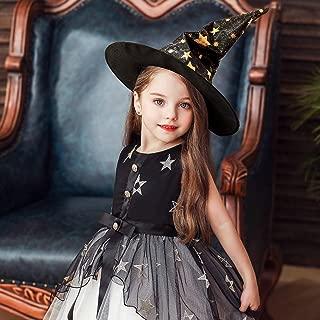ALOVEMO Toddler Halloween Dresses Outfits,Kids Little Girls Cap Sleeve Halloween Princess Party Tulle Dresses+Cap 2Pcs Set