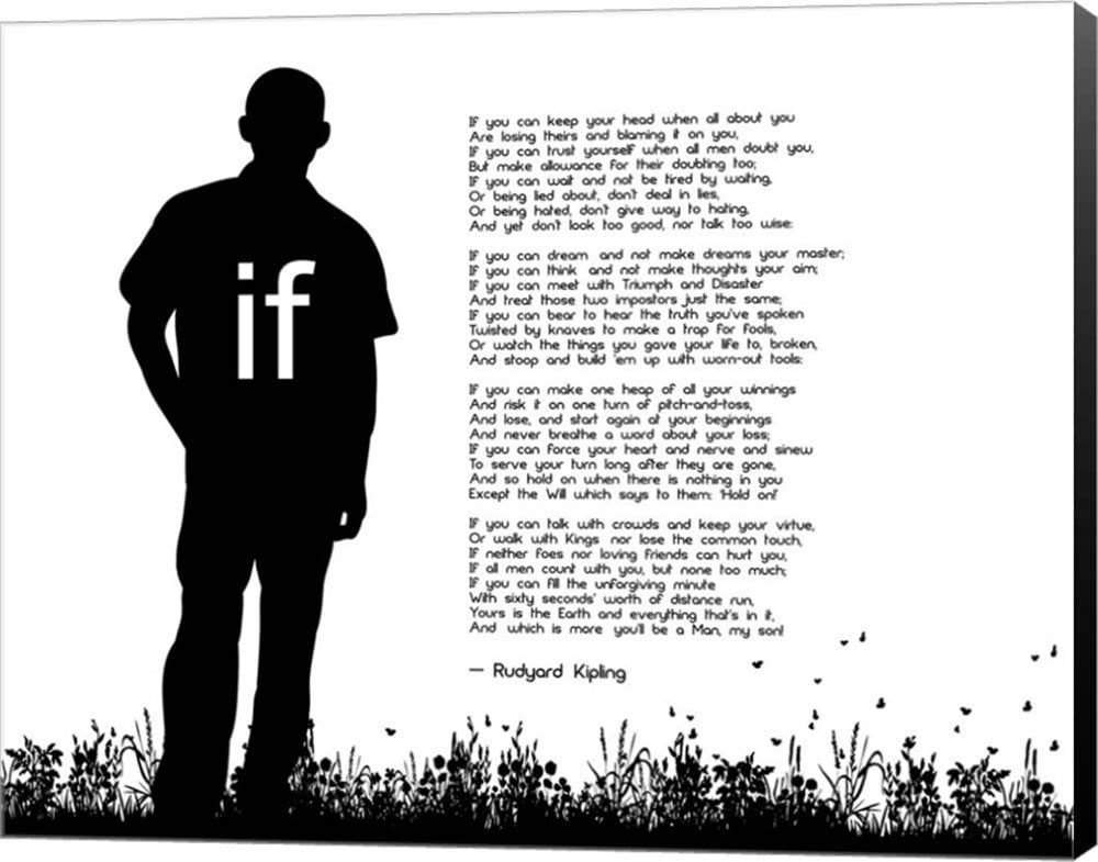 If by Rudyard Large special price Kipling - Man Can Quote White SEAL limited product Silhouette Master