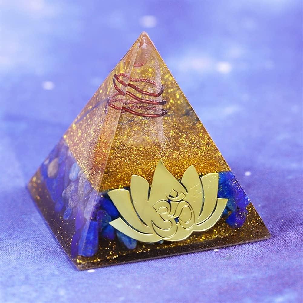 Limited time cheap sale Stones Handmade Lotus Meditation Orgonite L Pyramid Stone Energy Max 86% OFF