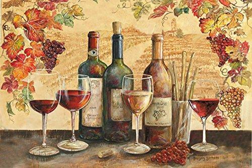 Feeling at home ESTRILLADO-LONEA-Toscana-Banquete-Motivo-Gorham-Gregory-Alimentos-Fine-Art-impresión-enmarcado-on-madera-bars-cm_34x51_in