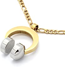 Men's Stainless Steel Gold Tone Beat Headphone Pendant 4mm 30