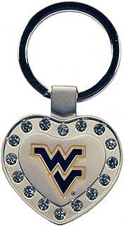 "NCAA West Virginia Mountaineers Metal Heart ""I Luv"" Keychain"