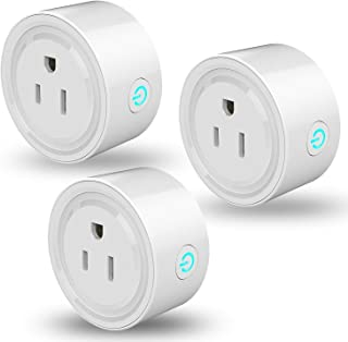3 Packs Smart Plug Linkstyle Smart Life Plug Outlet, Wi-Fi Mini Smart Socket, Timer Outlet, Compatible with Alexa, Google Assistant & IFTTT, No Hub Required, Remote Control Your Devices from Anywhere