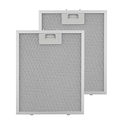 Klarstein Aluminium-Fettfilter - Austauschfilter, Ersatzfilter, 2 x Filter, leichtgängiger Klickverschluss, 25,8 x 31,8 cm, ca. 300g, Aluminium, für Klarstein Sabia Dunstabzugshauben, silber