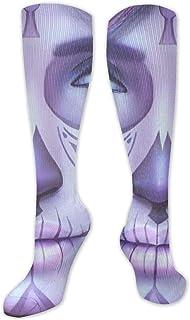 Jessicaie Shop, Purple Sugar Skull Girl Art Calcetines de compresión Medias para correr