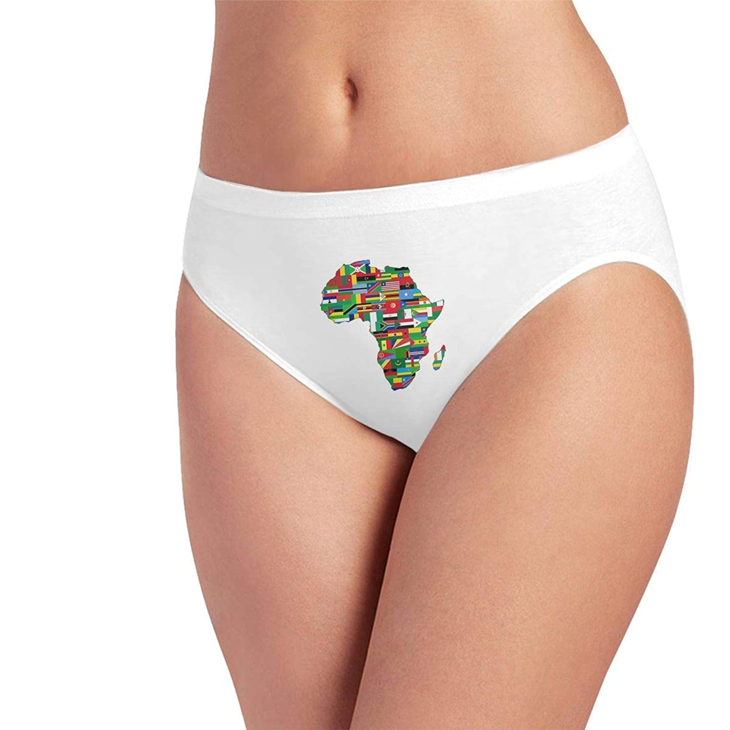 Ice Silk Briefs for Women Seamless Panty African American Pride Underwear No Panty Line Hipsters