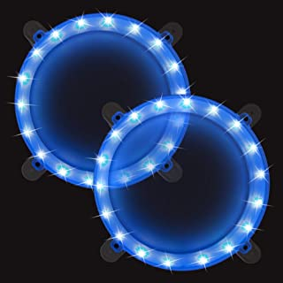 Cornhole Boards Ring Lights, One Set of Two Cornhole Lights, Waterproof LED Cornhole Ring Lights Kit for Cornhole Bags, Bean Bags, Tailgate Games,Yard Games