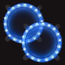 BLINNGO Cornhole Boards Ring Lights, One Set of Two Cornhole Lights, Waterproof LED Cornhole Ring Lights Kit for Cornhole Bags, Bean Bags, Tailgate Games,Yard Games