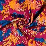 Stoffe Schulz | Softshell Florales Muster, pink | Meterware
