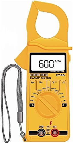 Kusam Meco KM 2790 Kusam 3½ Digit 600A AC 1999 Counts LCD Digital Clamp Meter by Supreme Traders Supertronics1989