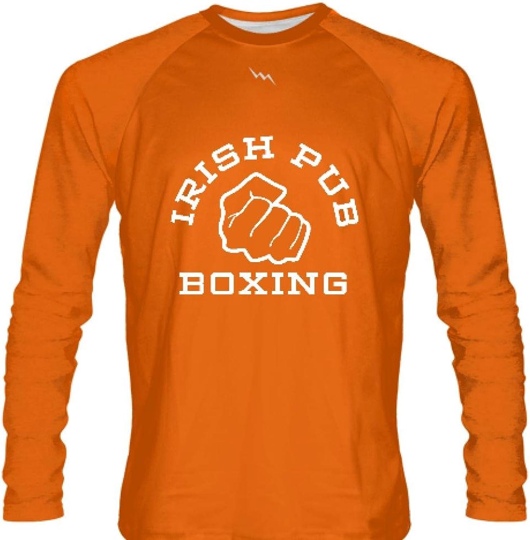 LightningWear Youth Irish Pub Boxing Long Sleeve Shirt orange Youth, orange