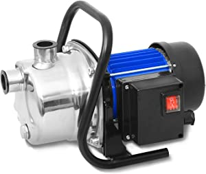 1.6HP Lawn Sprinkling Pump, Stainless Steel Electric Water Pump Shallow Well Booster Pump Transfer Pump for Home Garden Lawn Irrigation