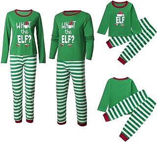 f643164ed2 COOKI Family Christmas Pajamas Set Striped Long Sleeve Letter Print  Sleepwear Nightwear Family Equipment Matching