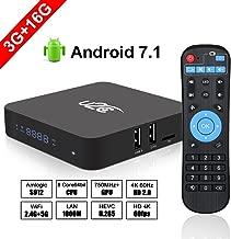 Android 7.1 TV Box, [3GB RAM+16GB ROM] Amlogic S912 Octa Core 64 Bits Processor 3D 4K HD Player with LED Display 2.4G/5G Dual WiFi 1000M LAN-Z Turbo