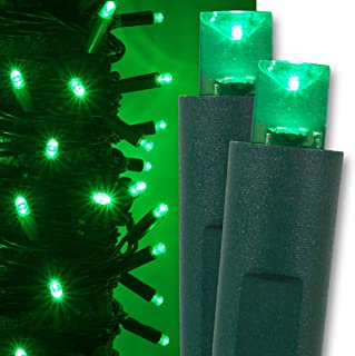 Green LED Christmas Mini String Light Set, 50 Lights, 17 ft Indoor/Outdoor Green Christmas Lights Decorations St. Patricks Day Halloween Deorations Outdoor Party Home Christmas Tree Lights, 4
