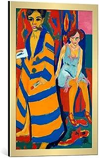 kunst für alle Framed Art Print: Ernst-Ludwig Kirchner Self Portrait with a Model 1907