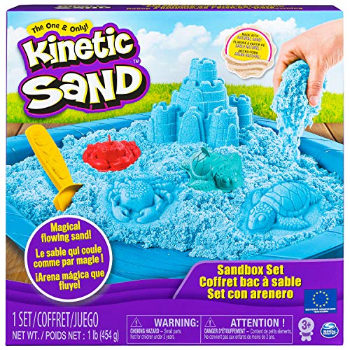 Kinetic Sand 6029058 - Sand Box Set blau
