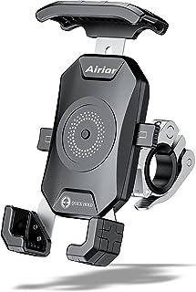 Airiar (アイリア) 自転車 スマホホルダー 防水 スマホ 携帯 ホルダー バイク 充電 なし クイックホールド ビートル Black / kaedear ( カエディア ) スマホホルダー