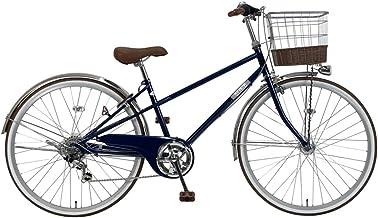 C.Dream(シードリーム) クオレ オートライト 26インチ 自転車 シティサイクル ネイビー 6段変速 100%組立済み発送
