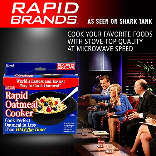 Product Image 7: Rapid Oatmeal Cooker   Microwave Instant or Old-Fashioned Oats in 2 Minutes   Perfect for Dorm, Small Kitchen, or Office   Dishwasher-Safe, Microwaveable, & BPA-Free