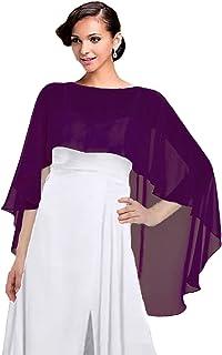 Women Chiffon Cape Bridal Soft Chiffon Scarves Shawls Wraps Beach Cover Up Wedding Bridal Capelet Evening Shawls